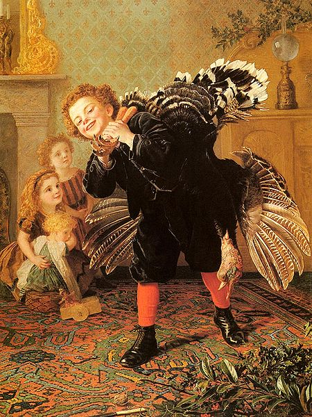 Christmas Time Here's The Gobbler by Sophie Anderson