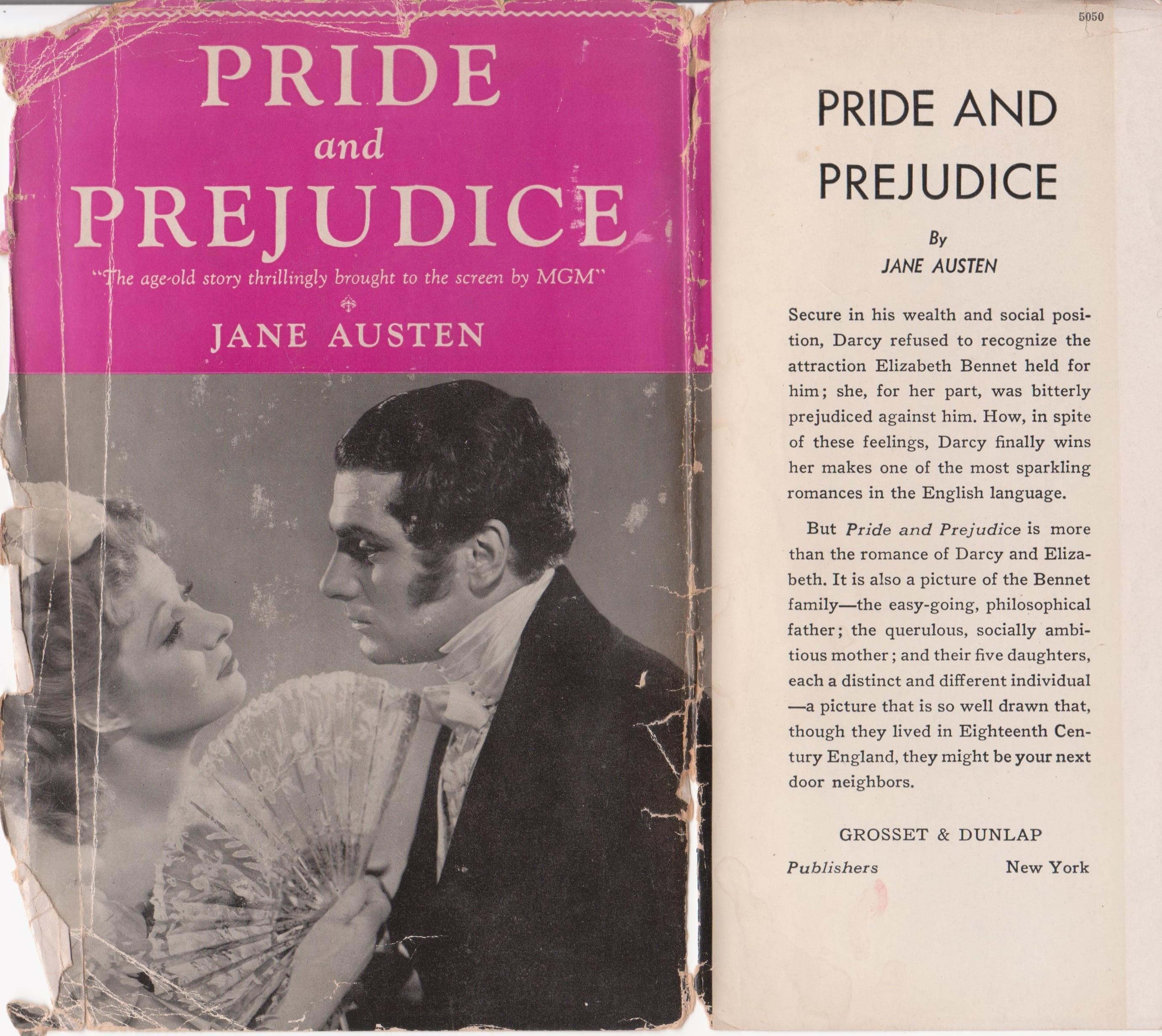 Front of dust jacket-Pride and Prejudice 001