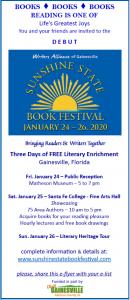 Sunshine State Book Festival 2020 poster